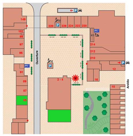 plattegrond korein